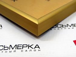 Рамка алюминий Nielsen золото